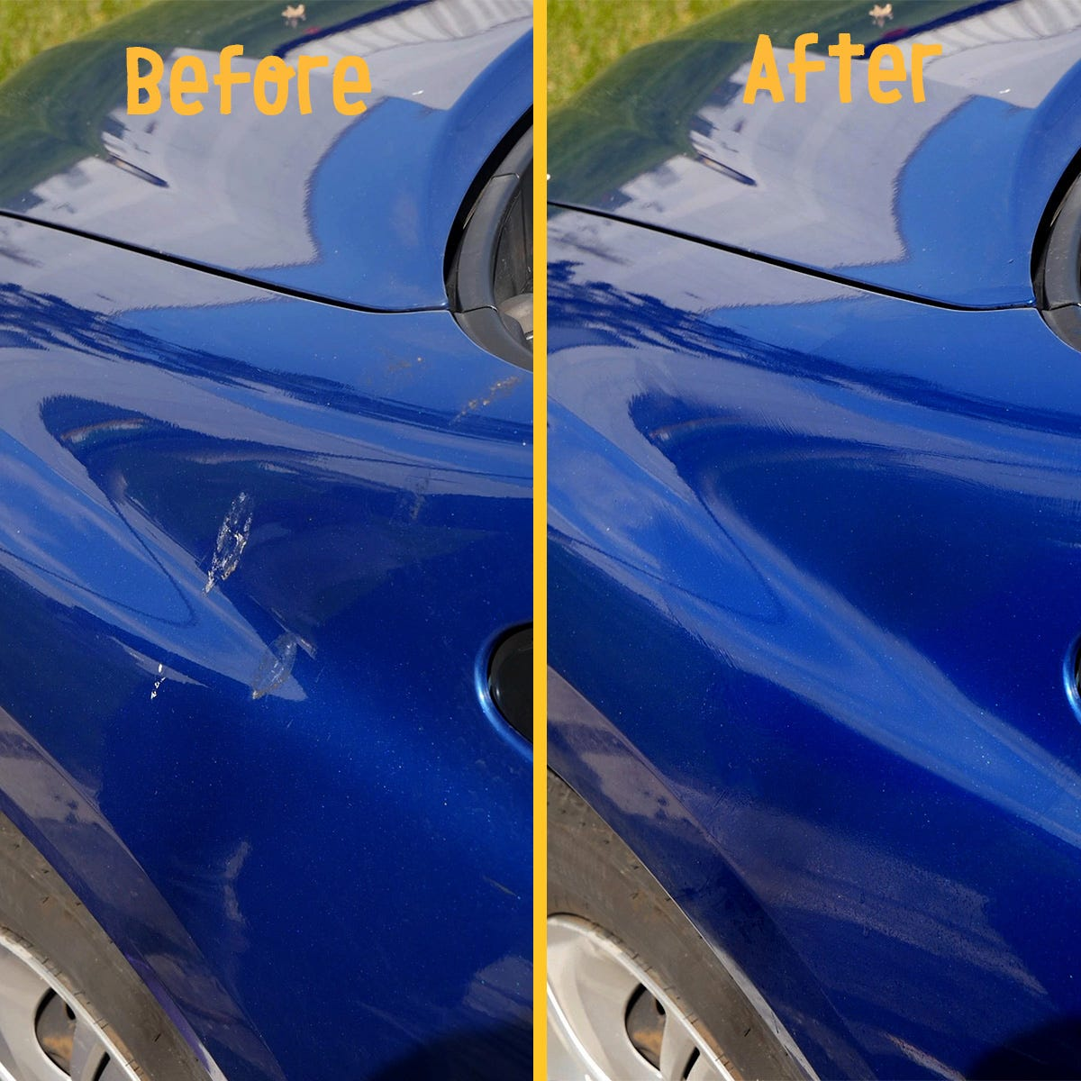 Bird droppings cleaned off car