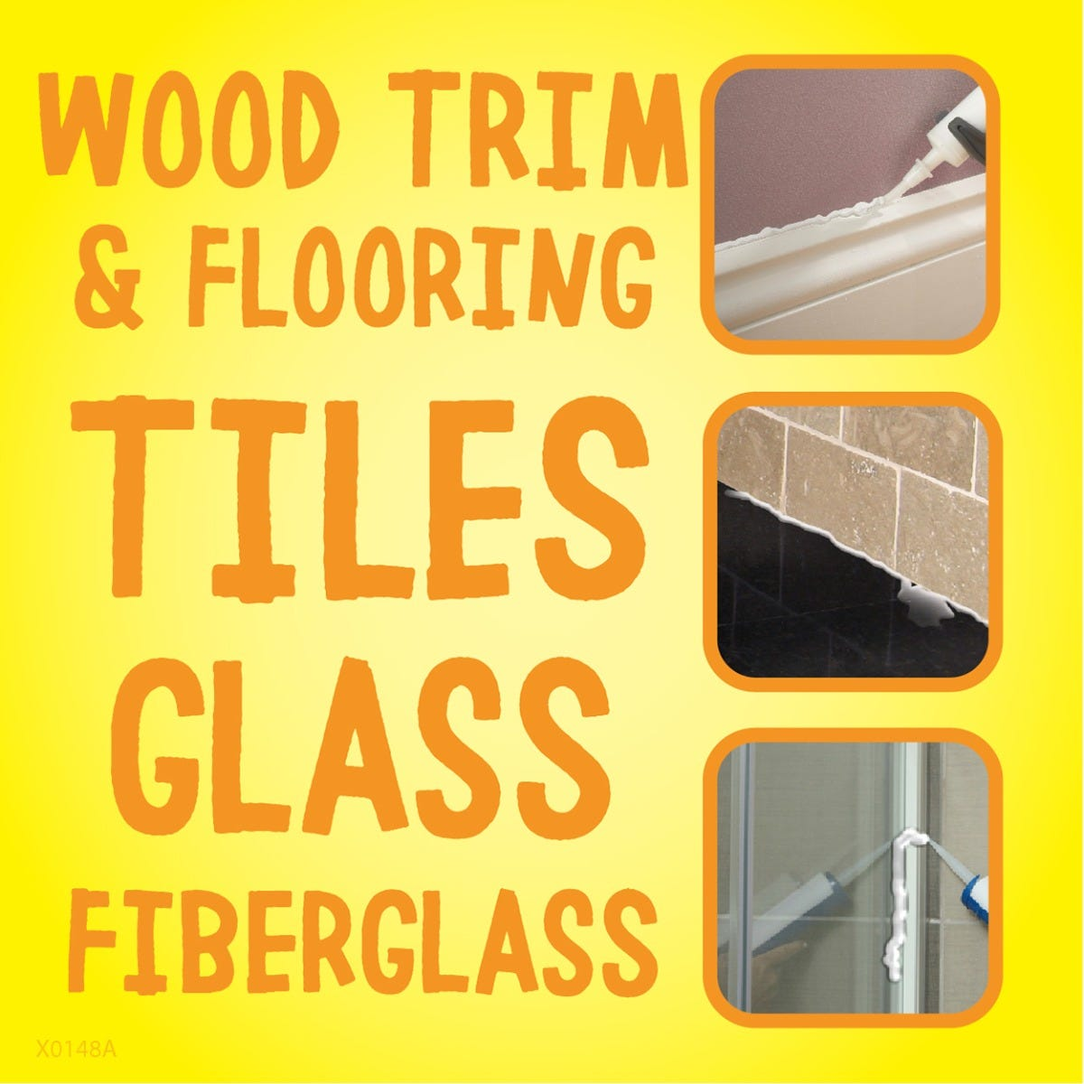 Use on trim, flooring, tiles & glass