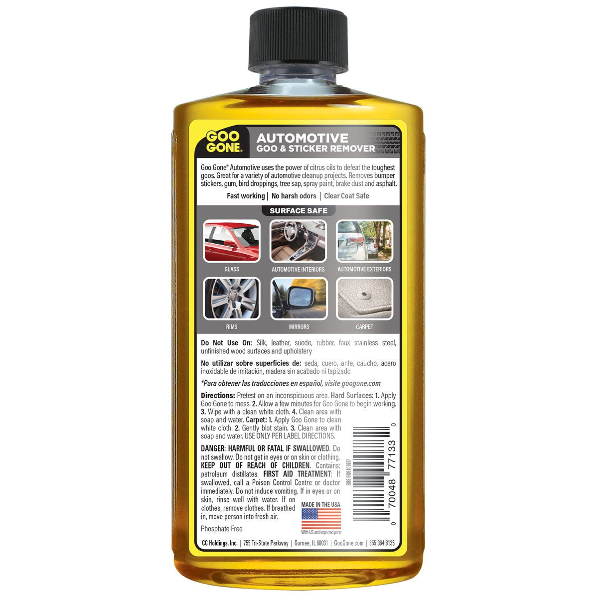 Goo Gone Automotive back label