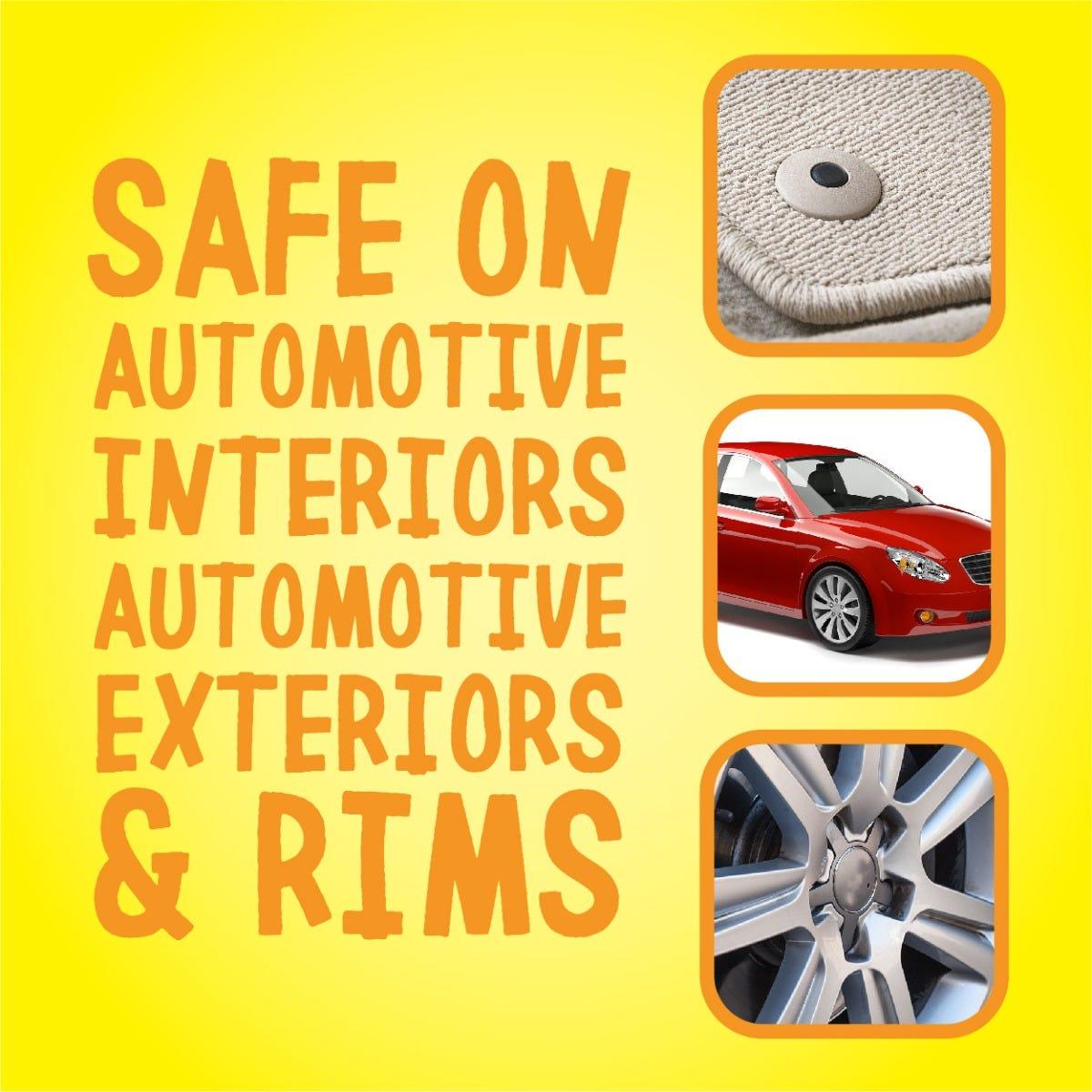 Safe on automotive interiors & exteriors