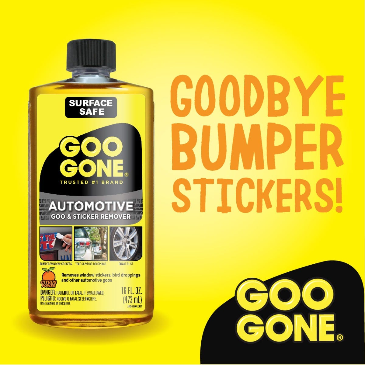 Goo Gone for bumper stickers