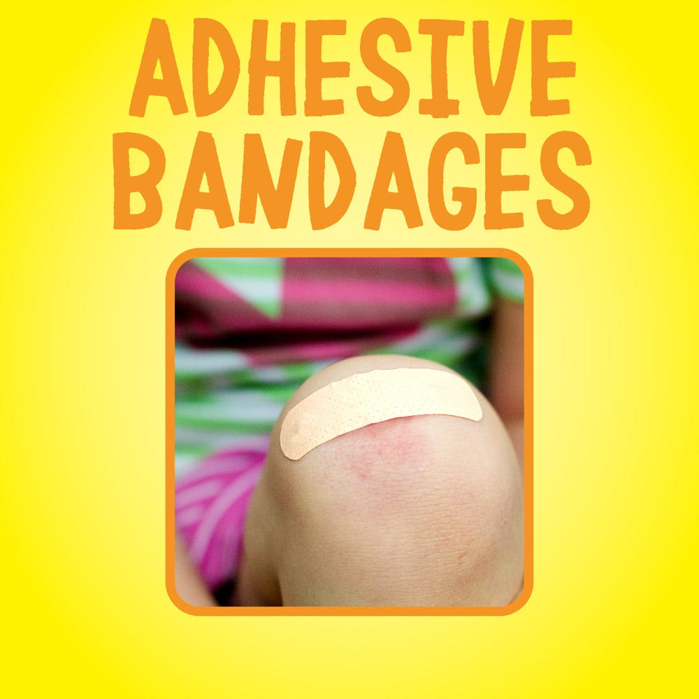Removes adhesive bandages