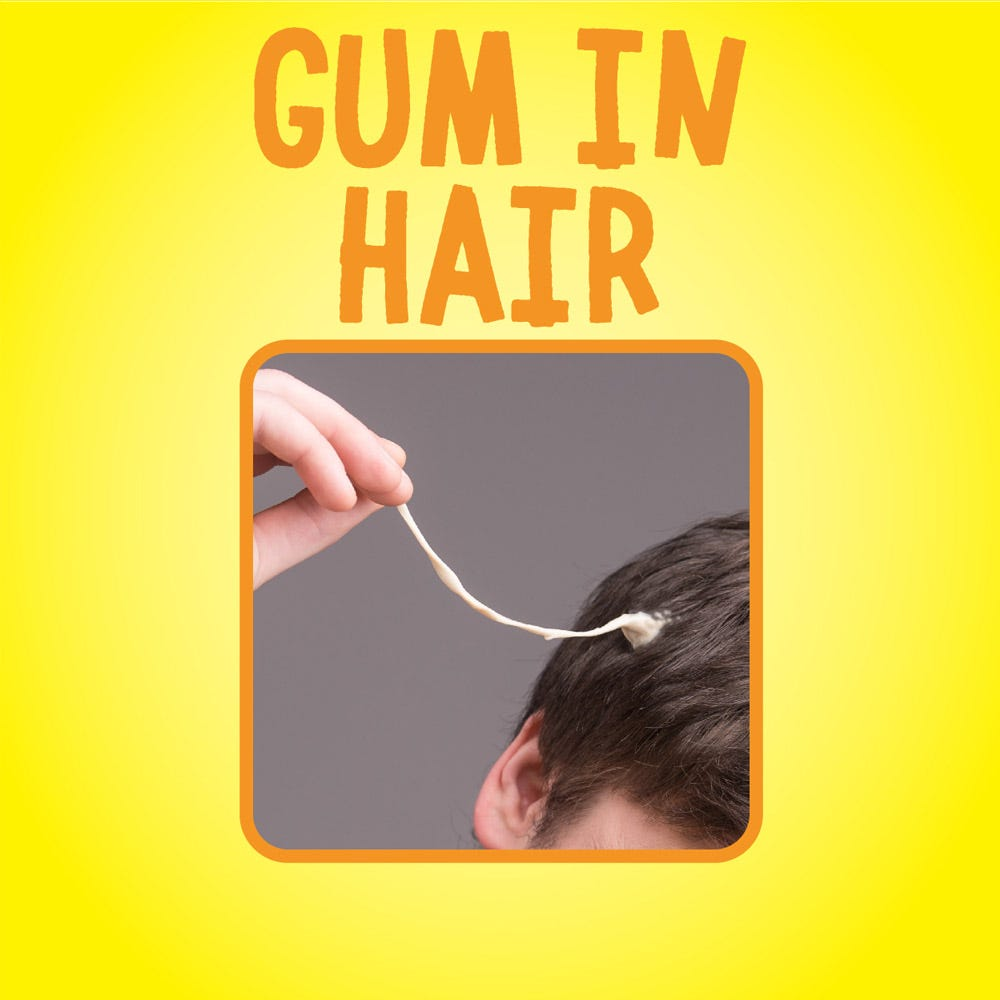 Removes gum in hair
