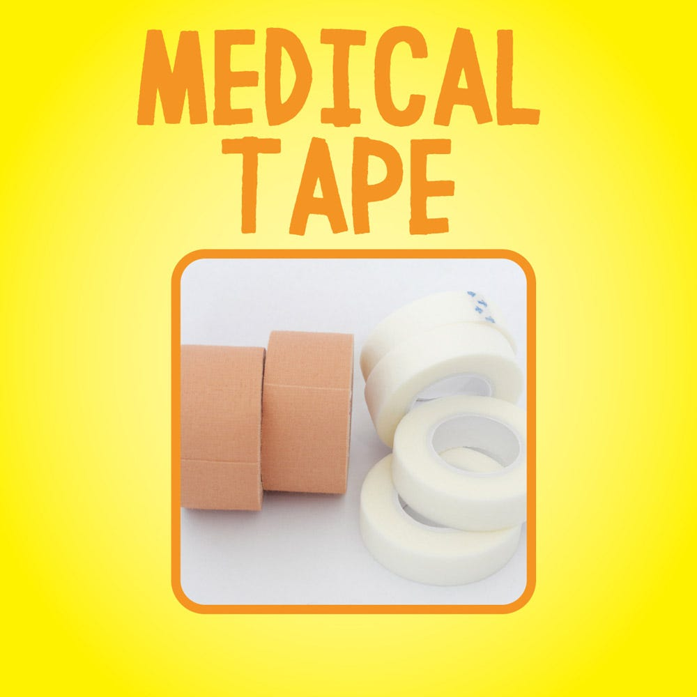 Removes medical tape residue
