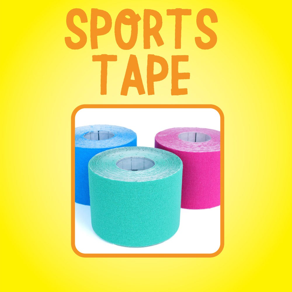 Removes sports tape