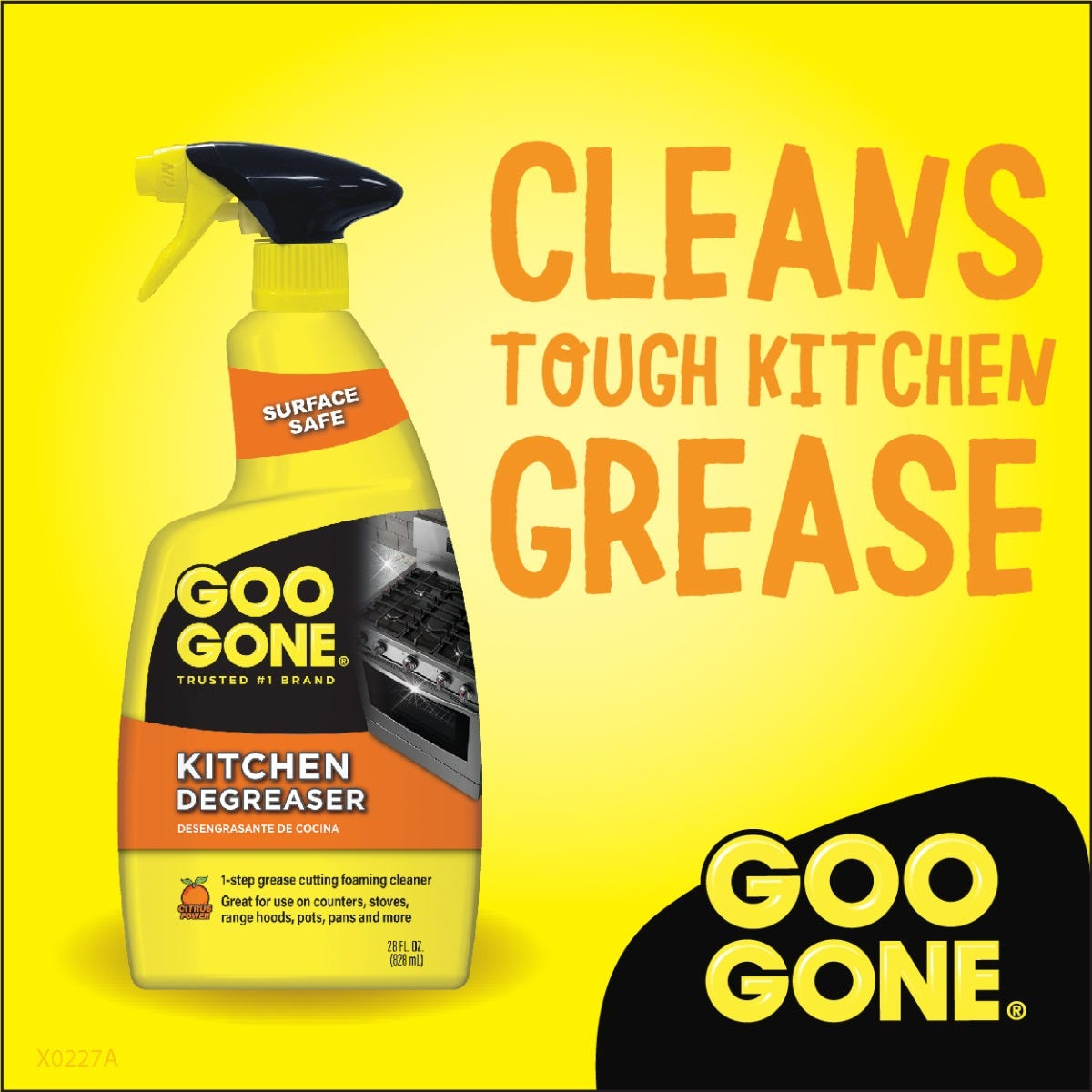 Cleans tough kitchen grease