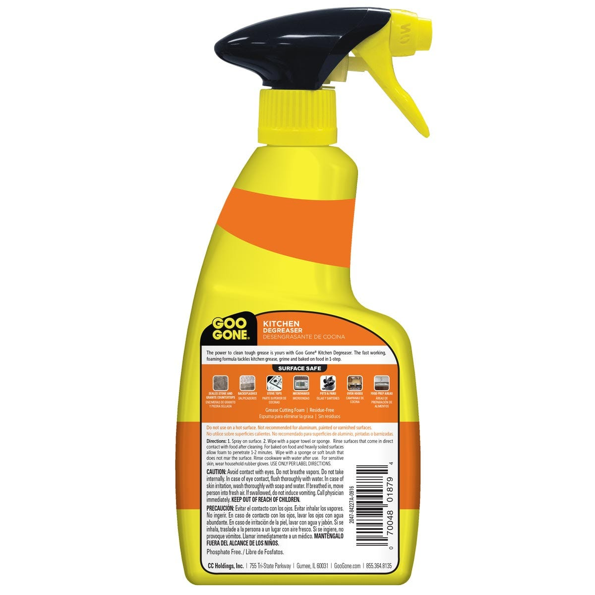 Kitchen Degreaser back label