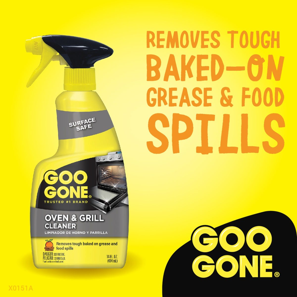 Remove tough grease & food spills