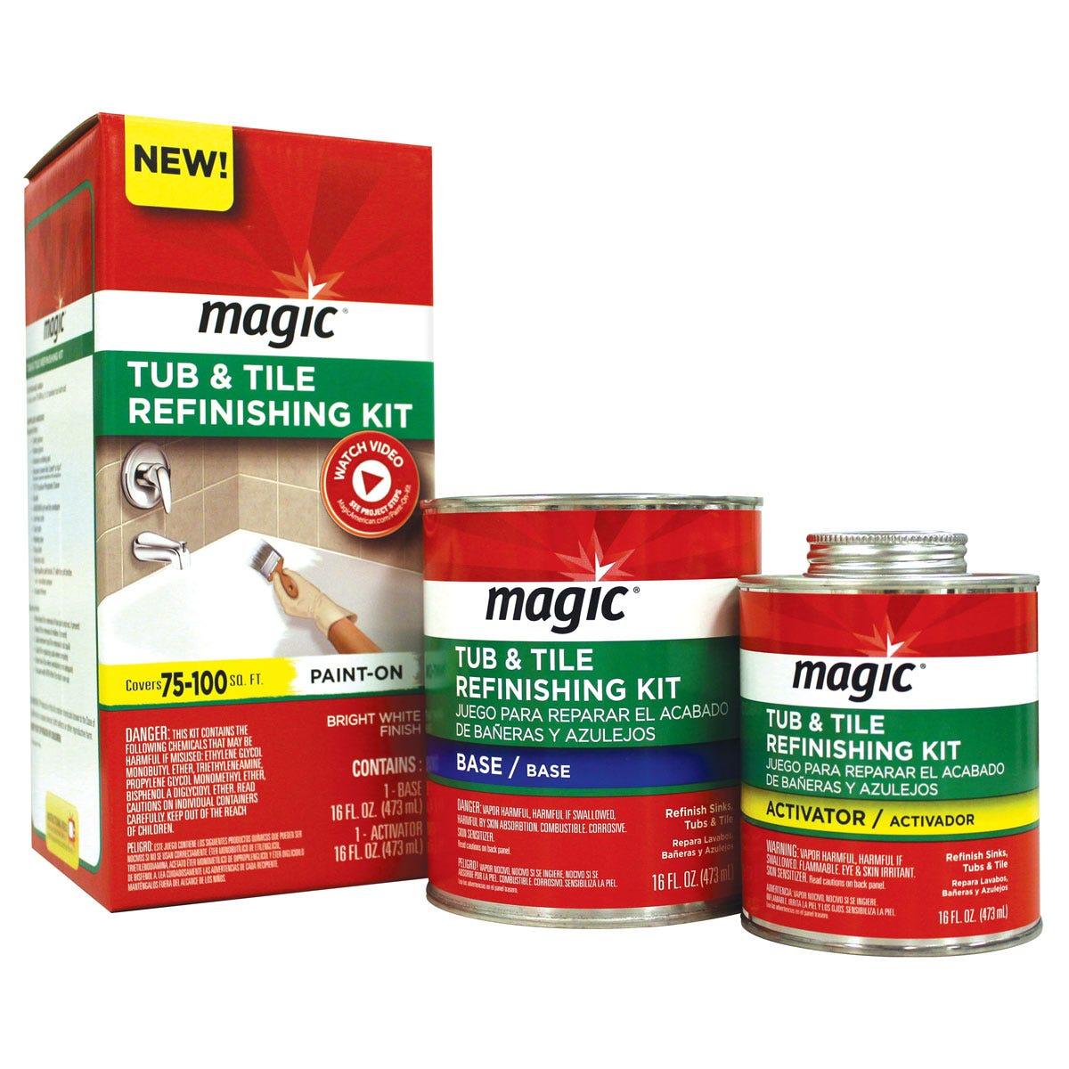 Paint-On Tub & Tile Refinishing Kit | Magic
