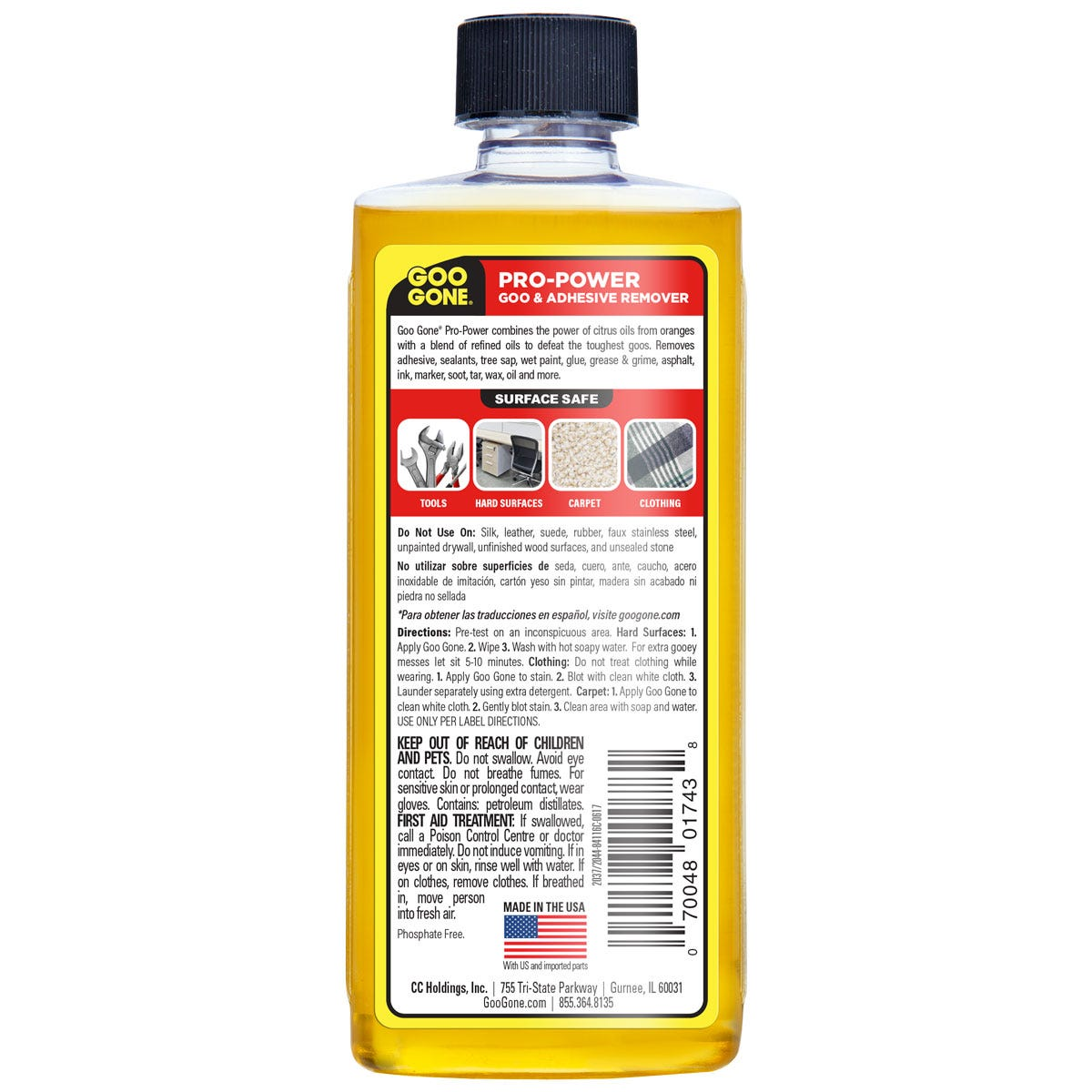Professional Adhesive Remover back label